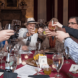 San Francisco Murder Mystery guests raise glasses